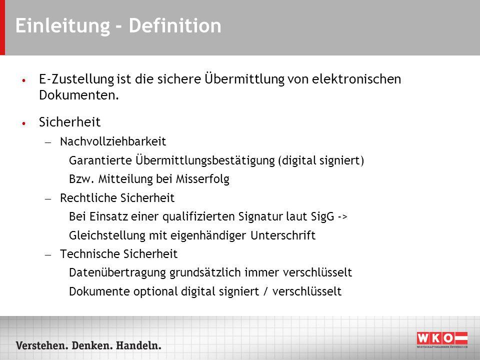 Funktionsprinzip vereinfacht Sichere und nachvollziehbare Übermittlung von elektronischen Dokumenten