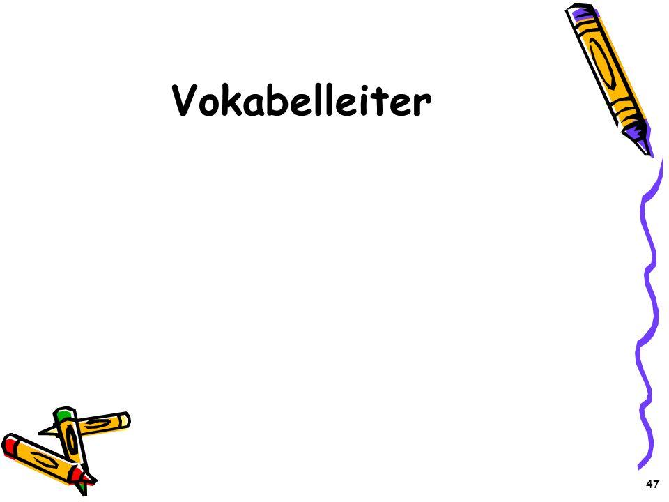 47 Vokabelleiter