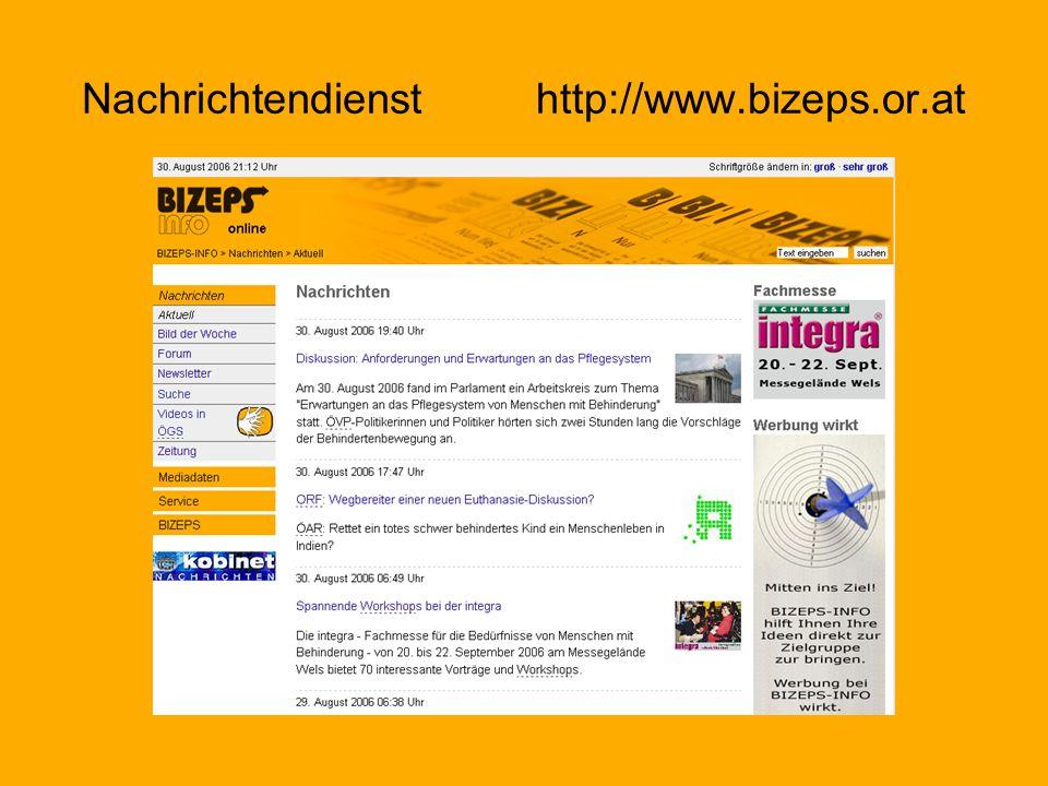 Nachrichtendienst http://www.bizeps.or.at