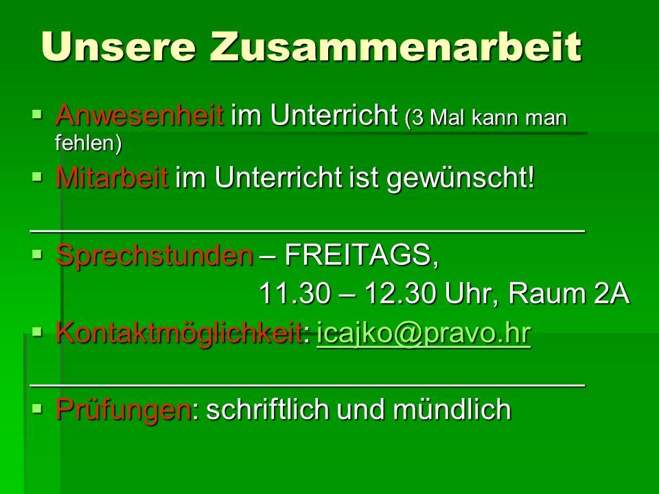 Stellen Sie sich vor… 1.Beschreiben Sie kurz Ihre bisherige Erfahrung mit Deutsch als Fremdsprache.