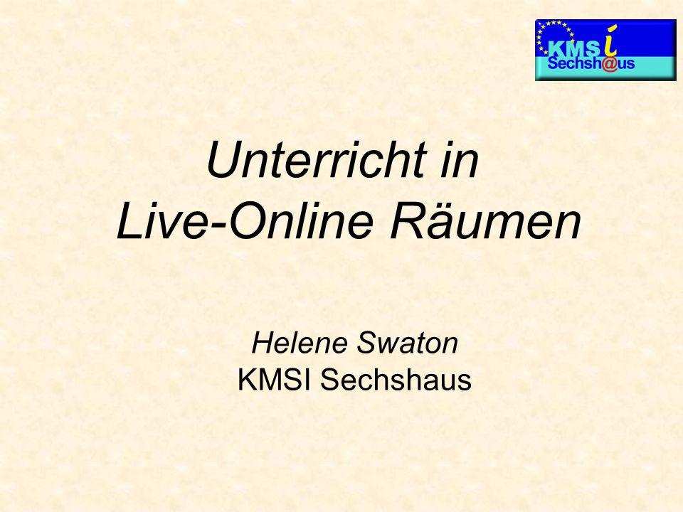 Unterricht in Live-Online Räumen Helene Swaton KMSI Sechshaus