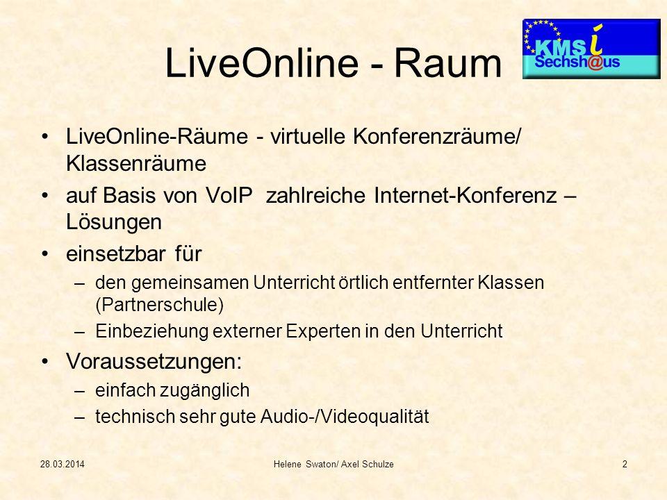LiveOnline - Raum LiveOnline-Räume - virtuelle Konferenzräume/ Klassenräume auf Basis von VoIP zahlreiche Internet-Konferenz – Lösungen einsetzbar für