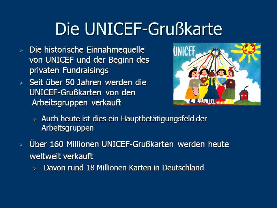 Die UNICEF-Grußkarte Die historische Einnahmequelle von UNICEF und der Beginn des privaten Fundraisings Die historische Einnahmequelle von UNICEF und