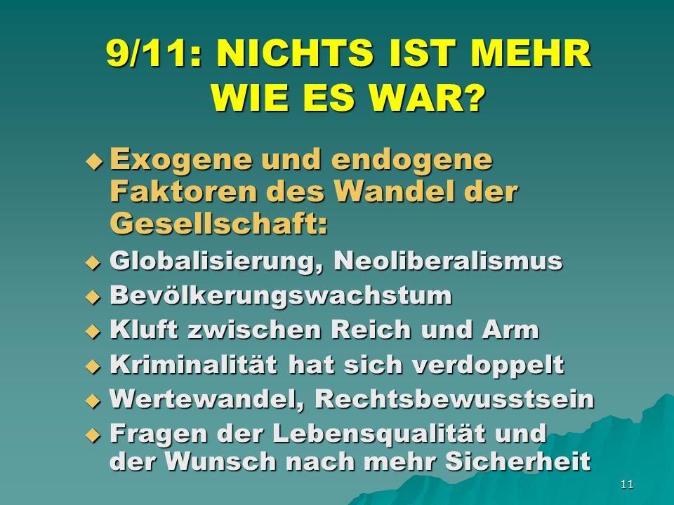 11 9/11: NICHTS IST MEHR WIE ES WAR.