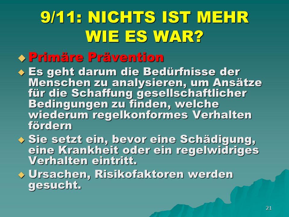 21 9/11: NICHTS IST MEHR WIE ES WAR.
