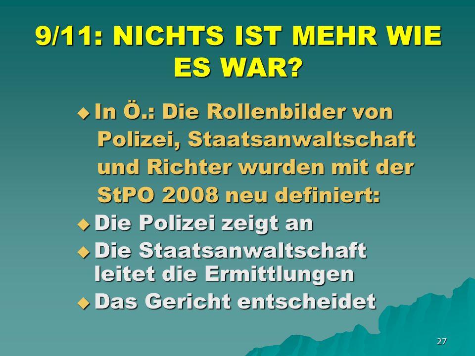 27 9/11: NICHTS IST MEHR WIE ES WAR.