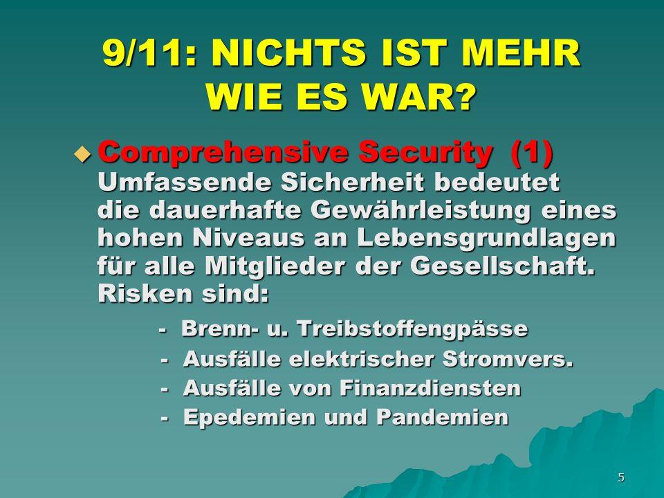 6 9/11: NICHTS IST MEHR WIE ES WAR.
