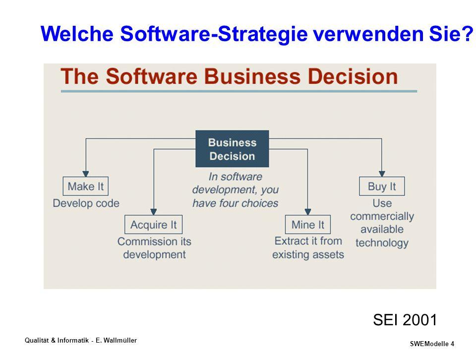 SWEModelle 3 Qualität & Informatik - E. Wallmüller Phänomene & Trends in der Informatik -Sein und Schein der eBusiness-Welle Bank Vontobel (Zürich) st