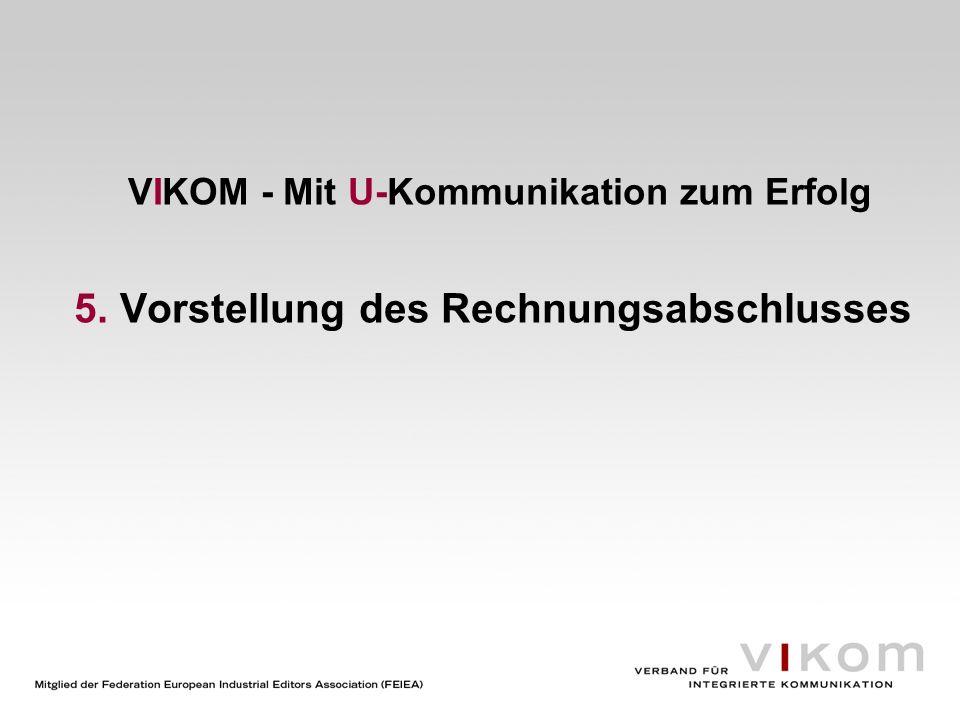 VIKOM – Mit U-Kommunikation zum Erfolg 6. Entlastung des amtierenden Vorstands