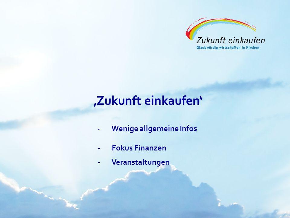 Copyright: EKvW 2008 Zukunft einkaufen -Wenige allgemeine Infos - Fokus Finanzen - Veranstaltungen