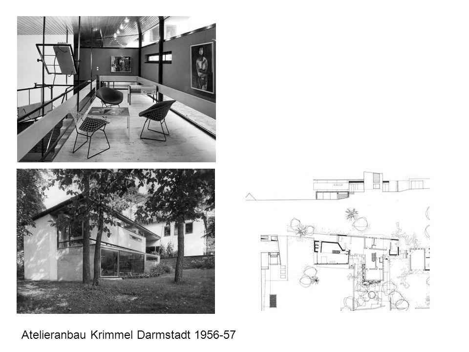 Atelieranbau Krimmel Darmstadt 1956-57