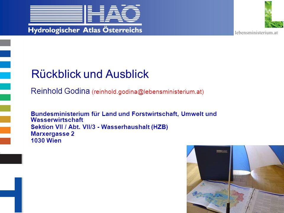 Copyright, 2002 © Josef Fürst Rückblick und Ausblick Reinhold Godina (reinhold.godina@lebensministerium.at) Bundesministerium für Land und Forstwirtsc