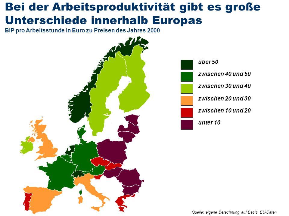 E R S T E G R O U P B A N K A G Seite 4020. Oktober 2011Rainer Münz Bei der Arbeitsproduktivität gibt es große Unterschiede innerhalb Europas BIP pro