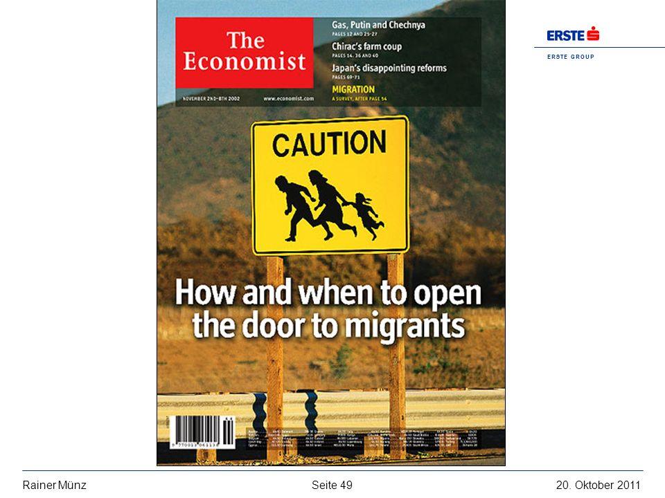 Seite 4920. Oktober 2011Rainer Münz E R S T E G R O U P B A N K A G
