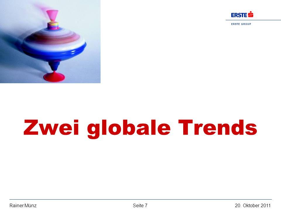 Seite 720. Oktober 2011Rainer Münz E R S T E G R O U P B A N K A G Zwei globale Trends