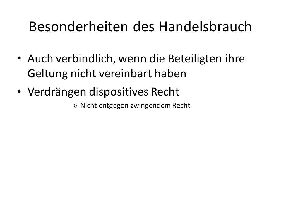 Der Handelskauf - §§ 373 ff.