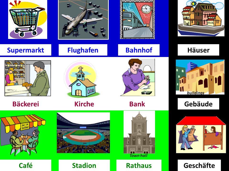 Was gibt es in deiner Stadt. (What is there in your town ) In meiner Stadt gibt eseinen….
