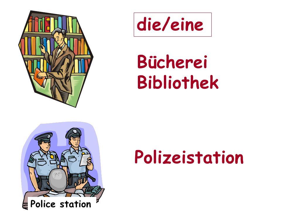 Police station Bücherei Bibliothek Polizeistation die/eine