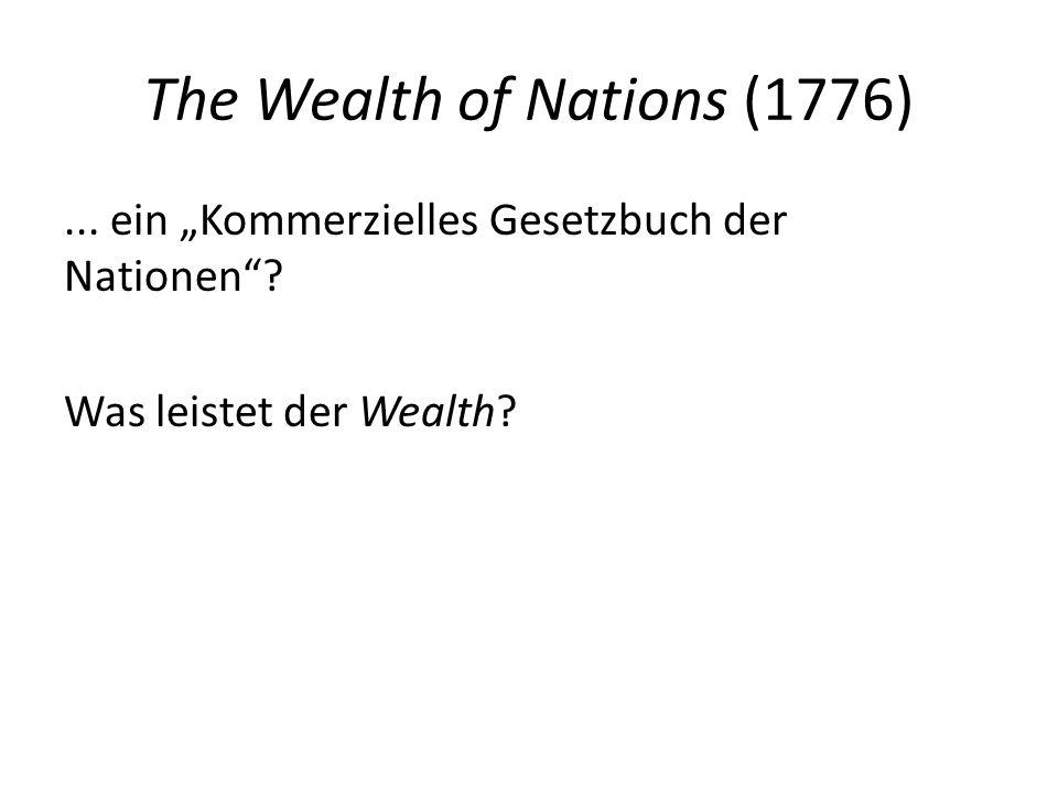 3.Wealth: (i) Kritik des Merkantilsystems... beruht auf zwei Grundsätzen: 1.