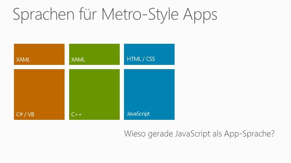 Wieso gerade JavaScript als App-Sprache