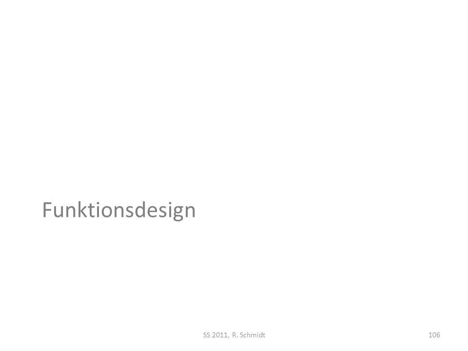 Funktionsdesign SS 2011, R. Schmidt106