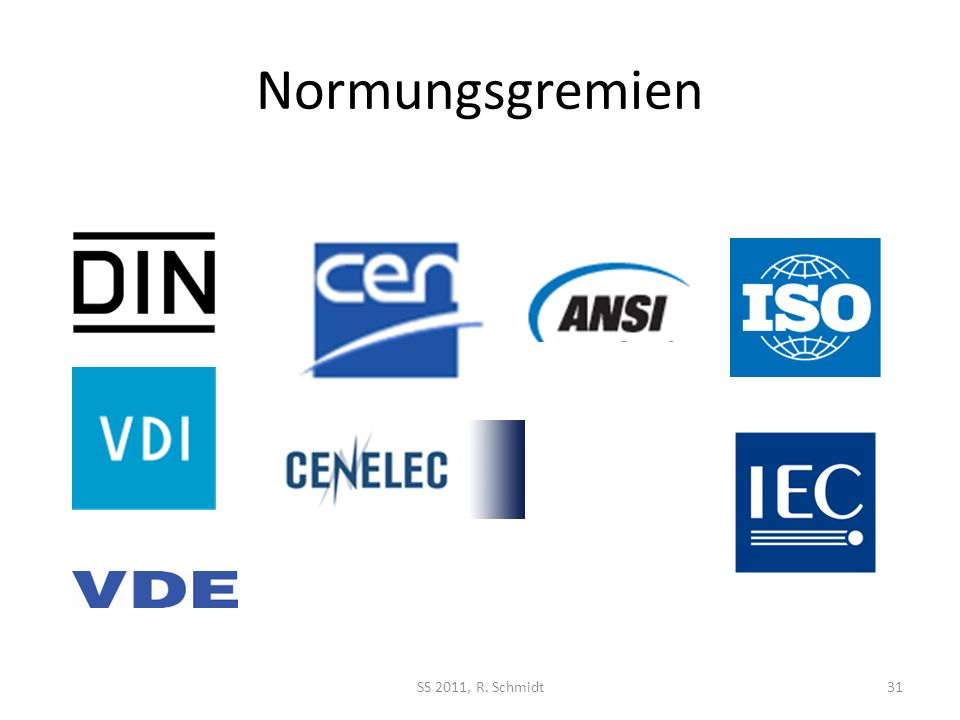 Normungsgremien SS 2011, R. Schmidt31