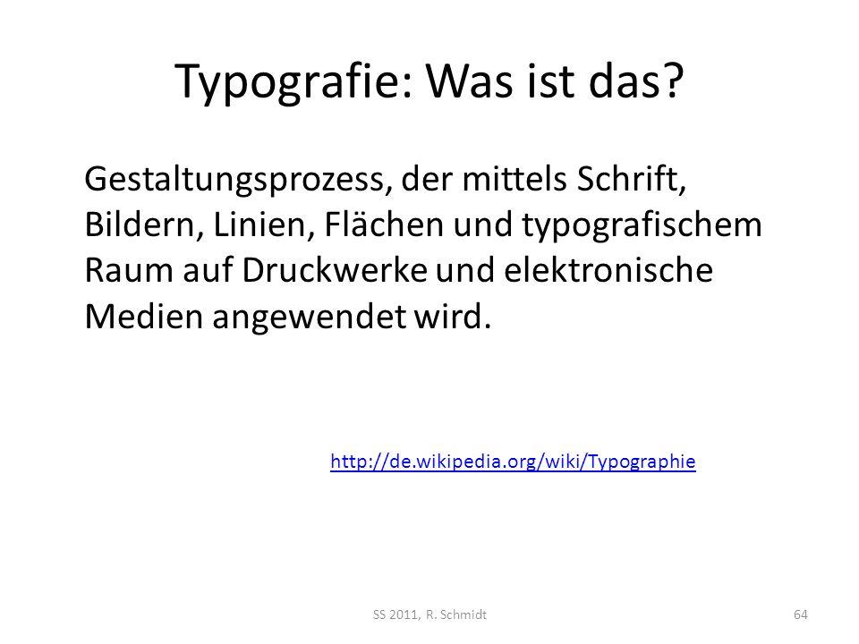 Typografie: Was ist das? Gestaltungsprozess, der mittels Schrift, Bildern, Linien, Flächen und typografischem Raum auf Druckwerke und elektronische Me