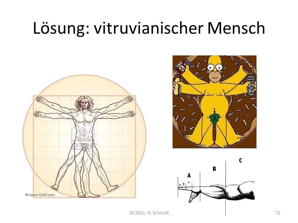 Lösung: vitruvianischer Mensch SS 2011, R. Schmidt71