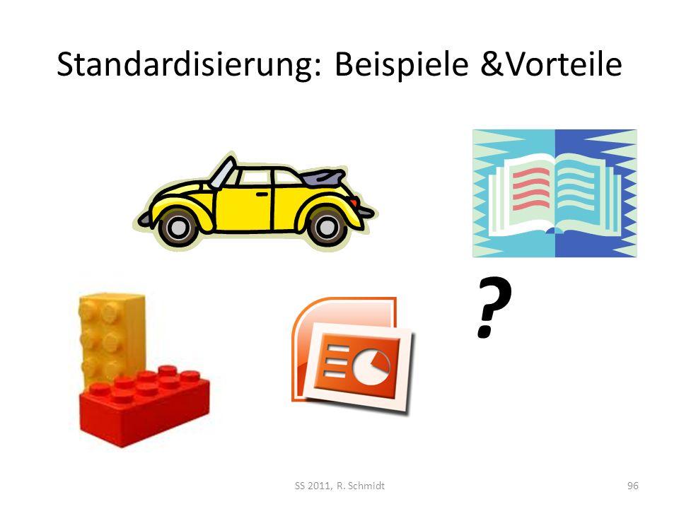 Standardisierung: Beispiele &Vorteile SS 2011, R. Schmidt96 ?
