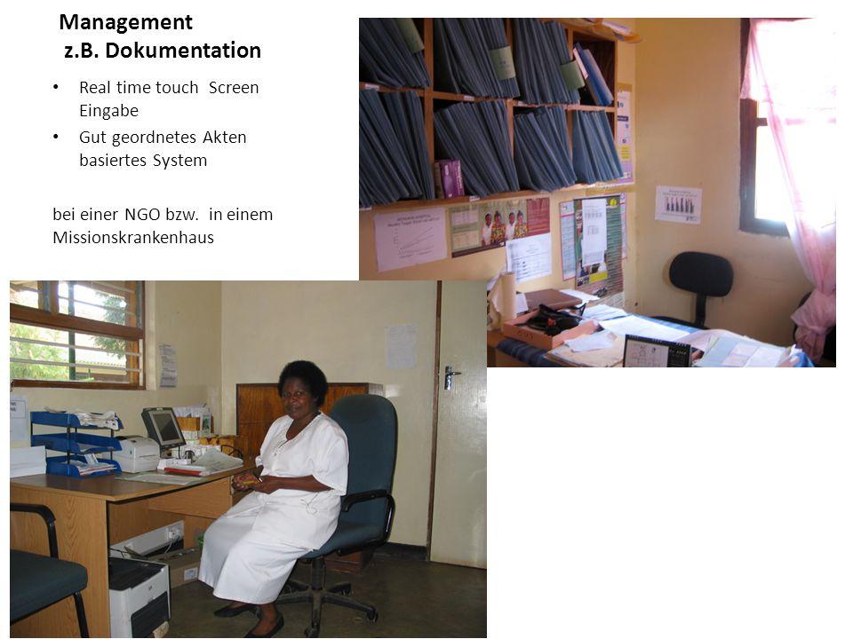 Management z.B. Dokumentation Real time touch Screen Eingabe Gut geordnetes Akten basiertes System bei einer NGO bzw. in einem Missionskrankenhaus
