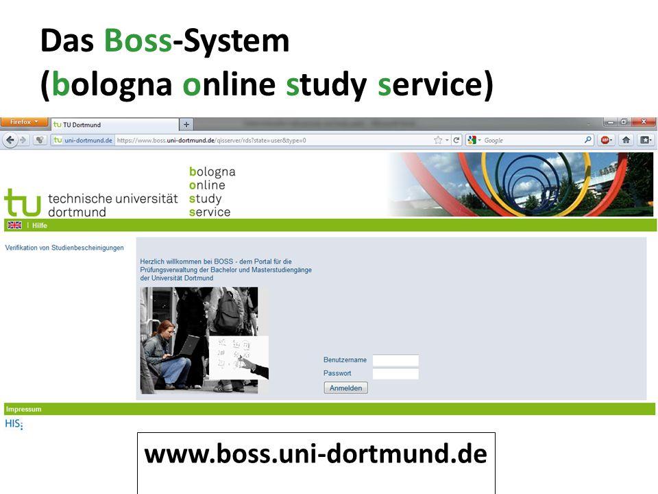 Das Boss-System (bologna online study service) www.boss.uni-dortmund.de