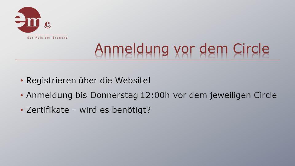 Registrieren über die Website.