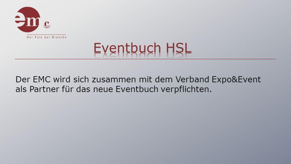 Der EMC wird sich zusammen mit dem Verband Expo&Event als Partner für das neue Eventbuch verpflichten.