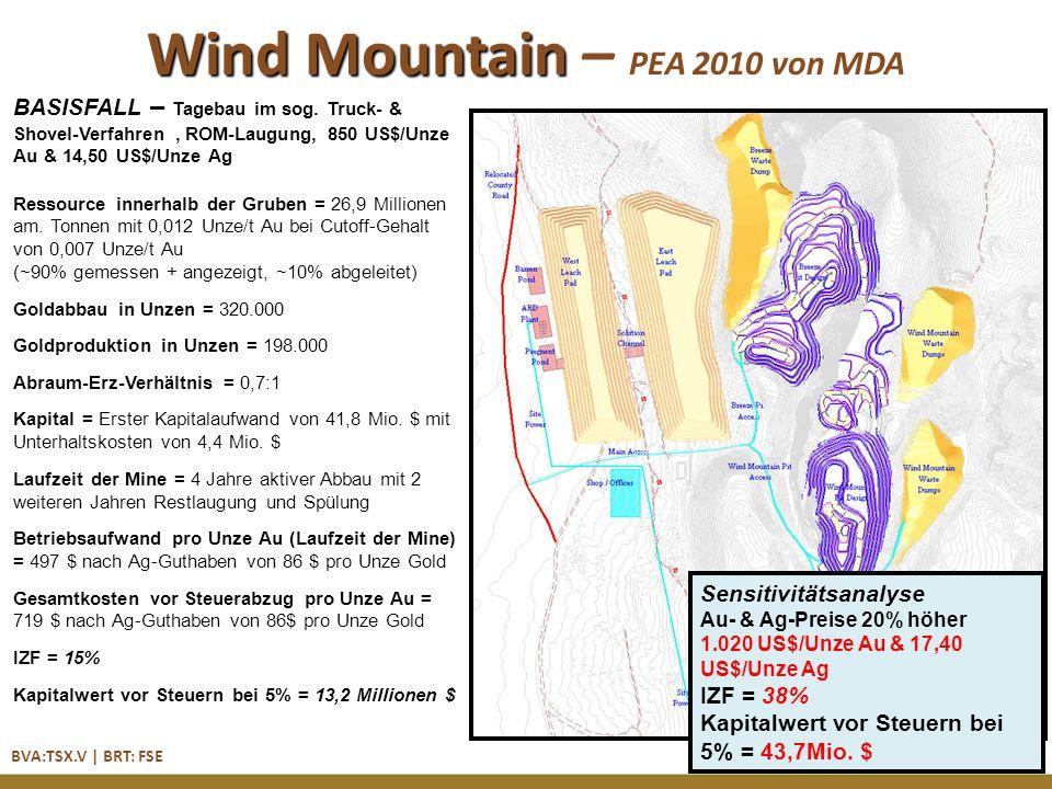 BVA:TSX.V | BRT: FSE Wind Mountain – PEA 2010 von MDA BASISFALL – Tagebau im sog.