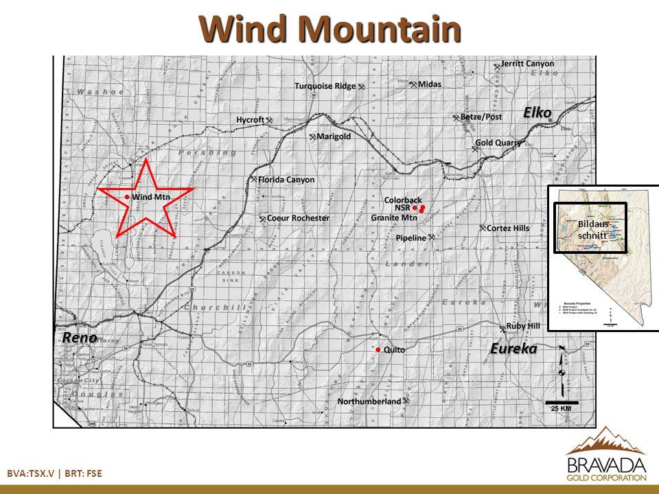 Wind Mountain BVA:TSX.V | BRT: FSE Reno Bildaus- schnitt Elko Eureka