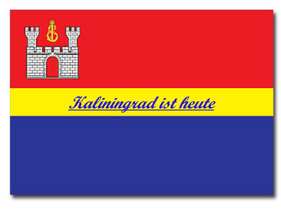 Zu Ehren Kalinin bekam die Stadt den Namen Kaliningrad.