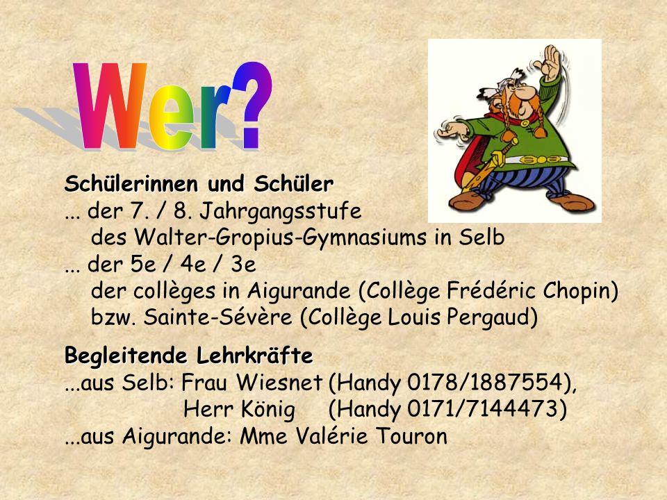 Schülerinnen und Schüler... der 7. / 8. Jahrgangsstufe des Walter-Gropius-Gymnasiums in Selb...