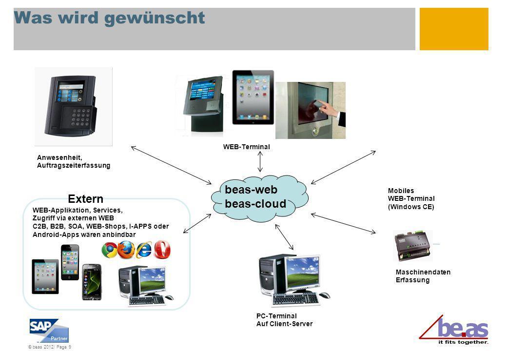 © beas 2012/ Page 30 Installation Durch Verwendung SAP-Tomcat-Server ist keinerlei weitere Installation notwendig Mit Auswahl des Servertyps werden die Connector-Dateien installiert und die Lösung kann sofort verwendet werden