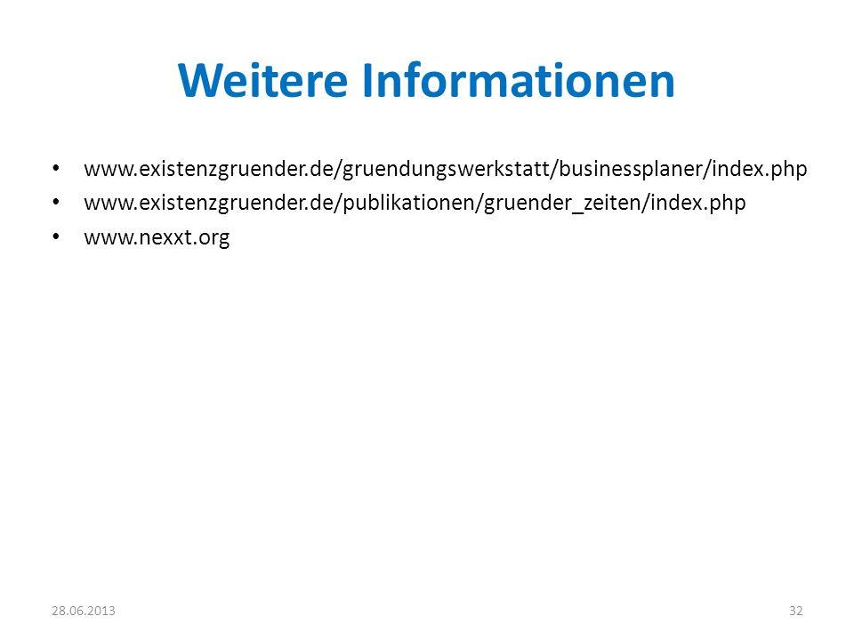 Weitere Informationen www.existenzgruender.de/gruendungswerkstatt/businessplaner/index.php www.existenzgruender.de/publikationen/gruender_zeiten/index