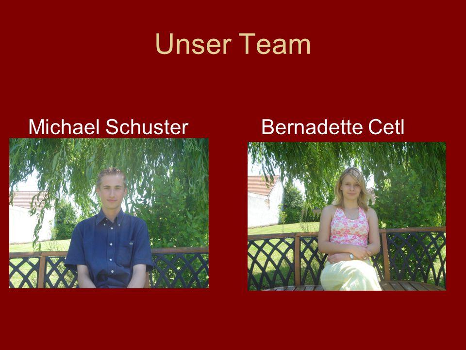 Unser Team Michael SchusterBernadette Cetl