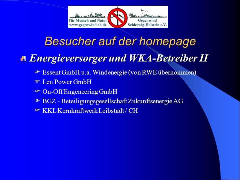 Besucher auf der homepage Universitäten und Hochschulen I Klinikum der Uni Kiel Humboldt Universität Berlin Uni Bremen Biozentrum der Uni Würzburg FH Bingen Uni Trier TU Freiberg FH Flensburg