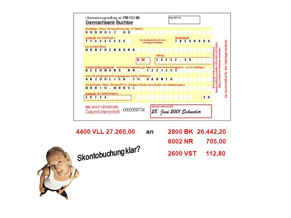 2800 BK 26.442,204400 VLL 27.260,00an 6002 NR 705,00 2600 VST 112,80