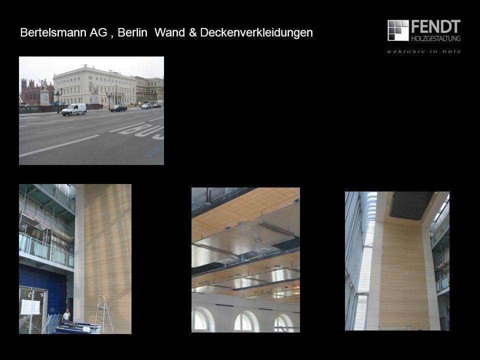 Bertelsmann AG, Berlin Wand & Deckenverkleidungen