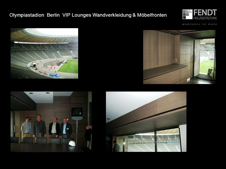 Olympiastadion Berlin VIP Lounges Wandverkleidung & Möbelfronten