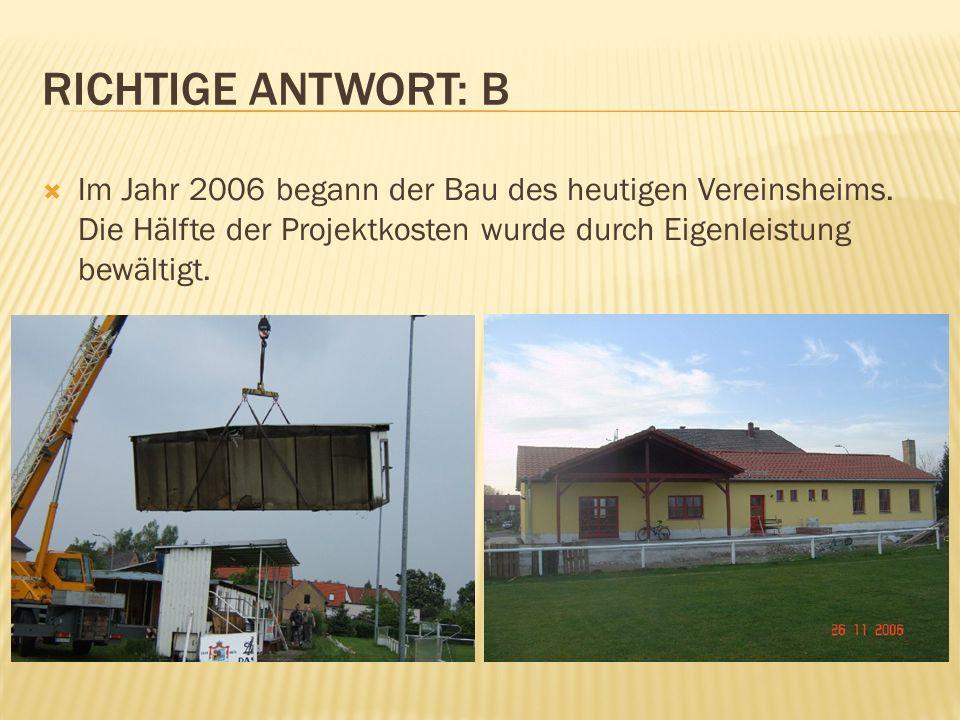 Im Jahr 2006 begann der Bau des heutigen Vereinsheims.