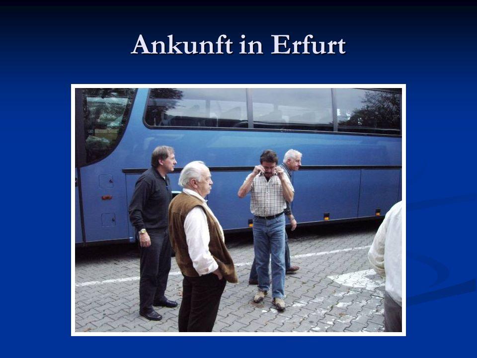 Ankunft in Erfurt