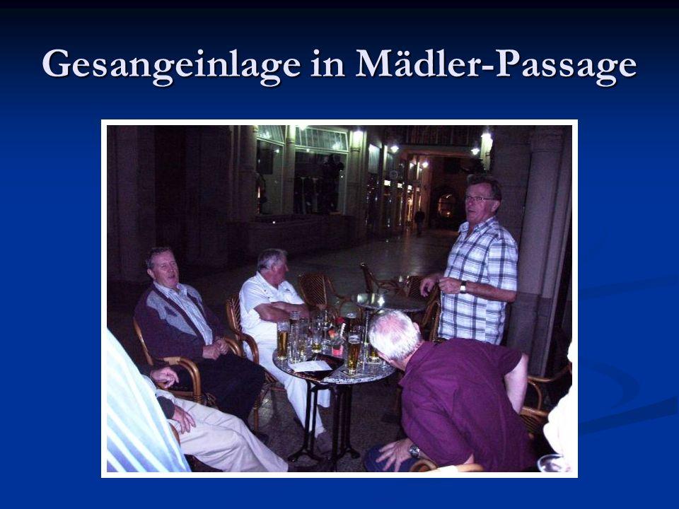 Gesangeinlage in Mädler-Passage