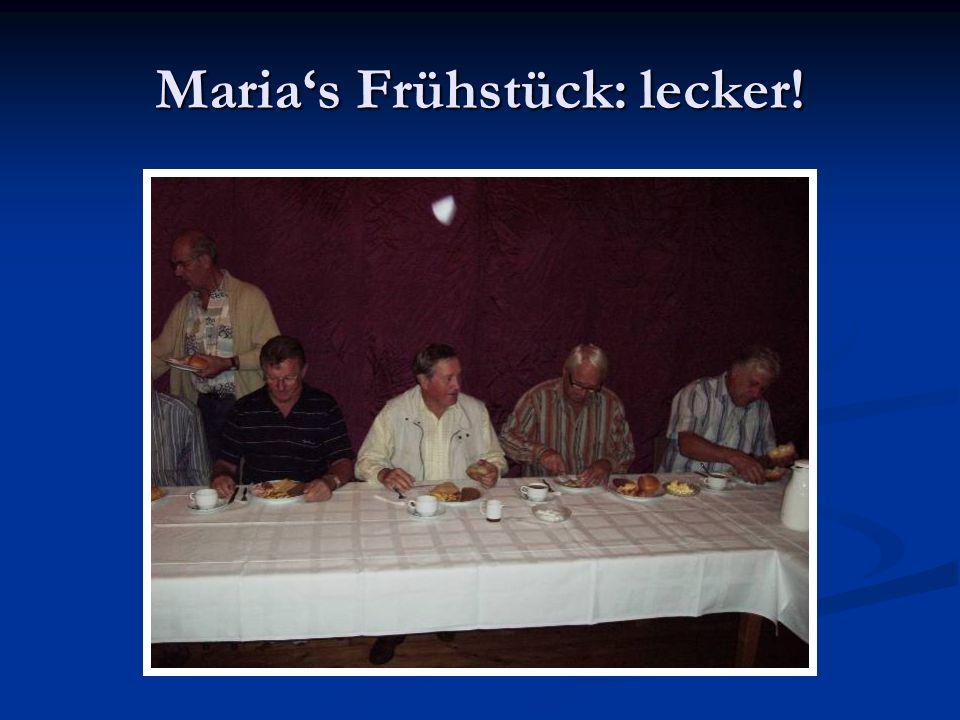 Marias Frühstück: lecker!