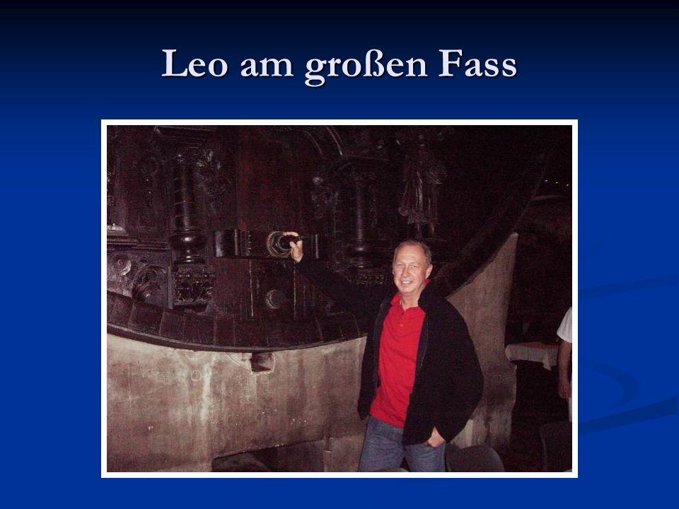 Leo am großen Fass