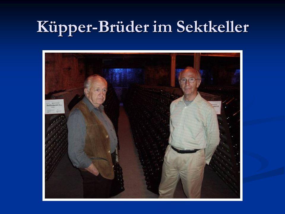 Küpper-Brüder im Sektkeller